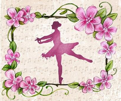 Ballerina, Dance, Piano, Card, Greeting, Recital, Woman