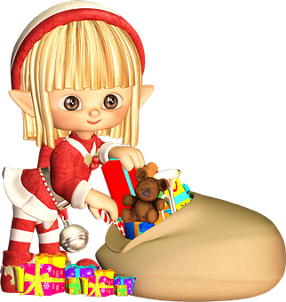 Blonde, Cartoon, Christmas, Comic Characters, Elf