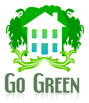 Green, Environmental, House, Abstract, Clip, Art, Logo