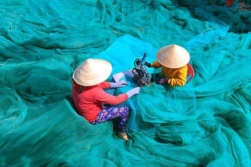 Fishing, The Fishermen, Tongue, Vietnam, Cleanup, Work