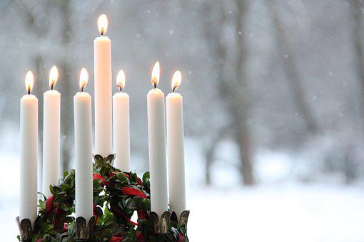 Candlelight, Winter, Flame, Snow, Christmas, Lucia