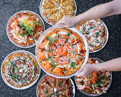 Food, Meals, Foodie, Tables, Dinner, Delicious, Pizza