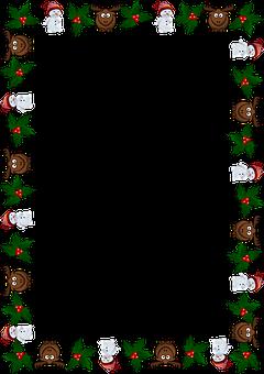 Frame, Christmas, Greeting Card, Christmas Card