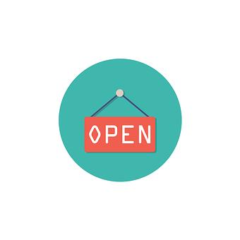 Open, Icon, Sign, Symbol, White, Business, Design, Web