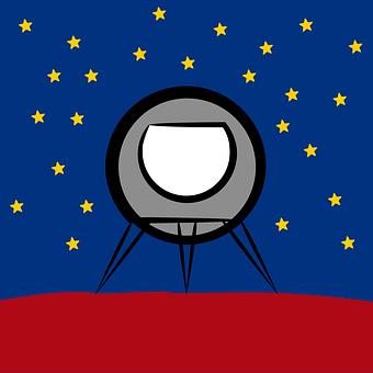 Rocket, Ship, Spaceship, Space, Kids, Cartoon, Science