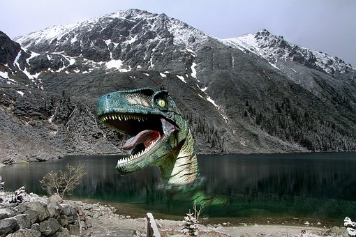 Dinosaur, Lake, Prehistory, Carnivore, Hangover, Fear