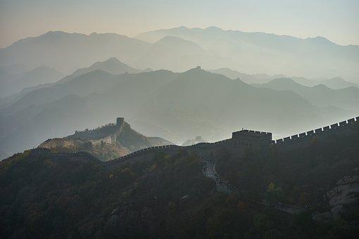 Mountain, Sunset, Landscape, Panoramic, China