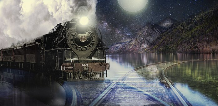 Loco, Train, Lake, Seemed, Locomotive, Steam Locomotive