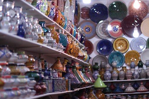 Market, Retail, Shopping, Travel, Glass, Ceramic