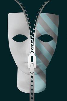 Psychology, Psyche, Mask, Face, Subconscious Mind