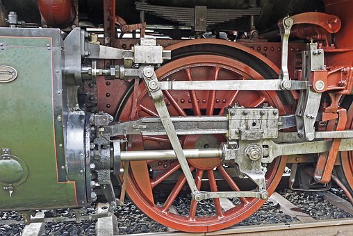 Steam Locomotive Drive, Mechanics, Cylinder, Piston Rod