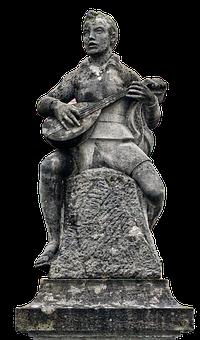 Sculpture, Statue, Mandolin, Sitting, Monument, Male