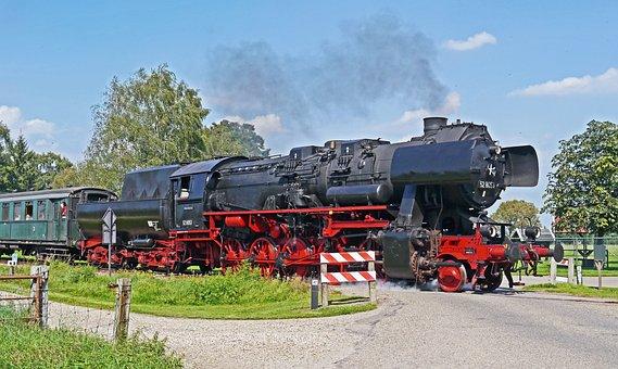 Steam Locomotive, Museum Locomotive, Museum Train, Day