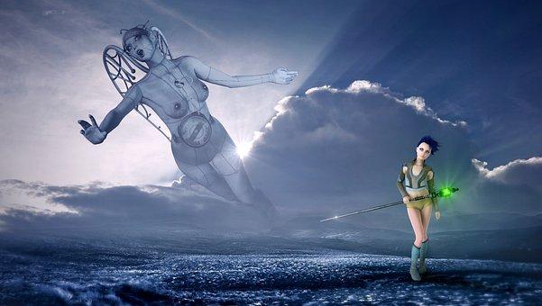 Fantasy, Sky, Clouds, Light, Landscape, Mystical