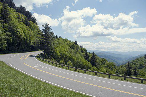 Road, Nature, Tree, Asphalt, Travel, Smoky Mountains