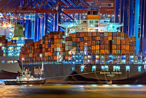 Hamburg, Port Of Hamburg, Container Ship, Germany