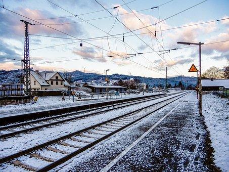 Train, Transport System, Railway, Railway Line, Station