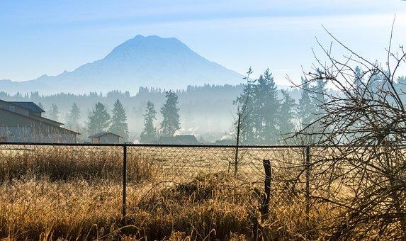 Rainier, Mount, Seattle, Washington, Mountain, National