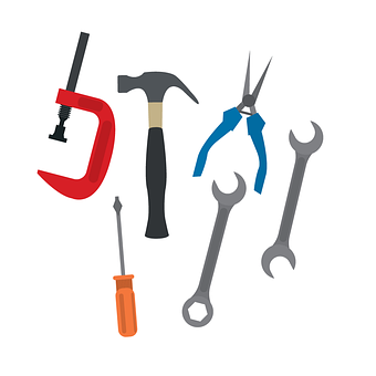 Tools, Spanners, Hammers, Wrench, Work, Equipment