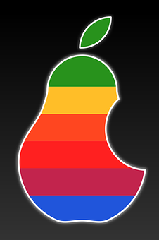 Apple Logo Color, Inspired By Apple, Pear