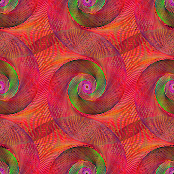 Red, Spiral, Swirl, Pattern, Seamless, Background