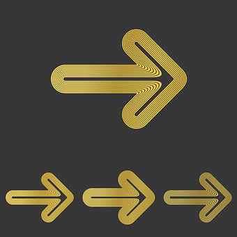 Golden, Arrow, Right, Progress, Previous, Next, Brand