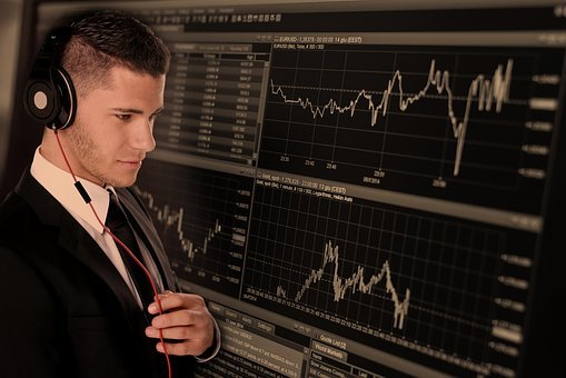 Trade, Businessman, Business, Monitor, Curve, Course