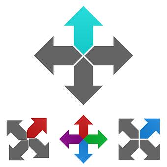 Arrow, Logo, Icon, Symbol, Direction, Cross, Navigation