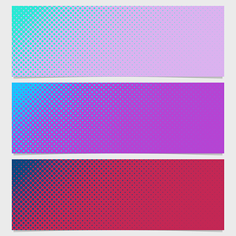Pattern, Banner, Set, Dot, Abstract, Dotted, Background