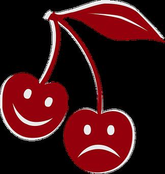 Happy, Sad, Cherry, Feelings, Emotions, Face, Smile