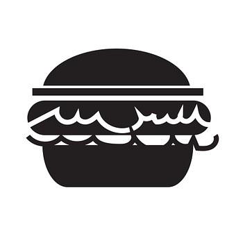 Burger, Icon, Hamburger, Food, Sandwich, Fast, Bun