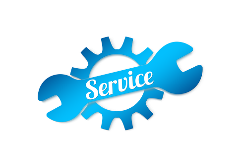 Service, Gear, Wrench, Help, Support, Icon, Button