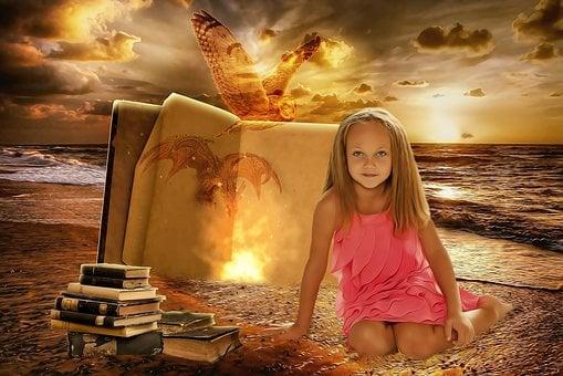 Girl, Female, Child, Little, Dream, Fantasy, Literature