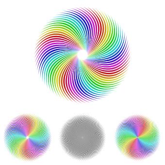 Swirl, Logo, Icon, Symbolism, Spinning Logo, Set
