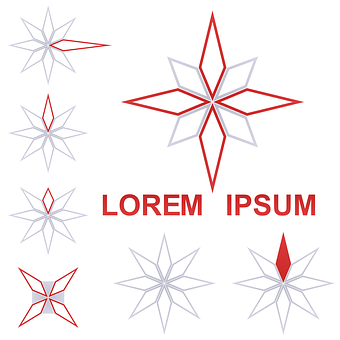 Star, Logo, Vector, Icon, Rhomboid, Line, Isolated