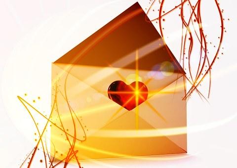 Letters, Envelope, Love Letter, Heart, Thank You Letter