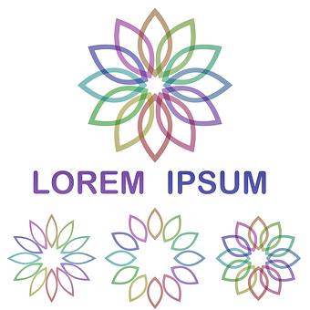 Organic, Nature, Flower, Logo, Stylized, Symbol, Shop