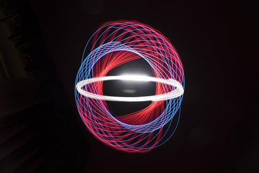 Light, Spiral, Spirograph, Painting, Glow, Photo