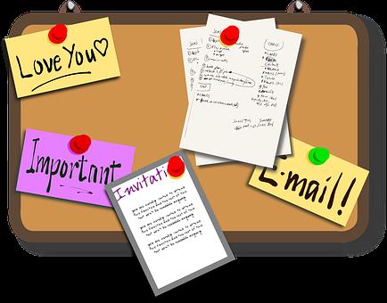 Bulletin Board, Pin Board, News, Bulletins, Memos