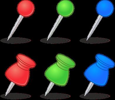 Thumbtacks, Pushpins, Markers, Needles, Pins, Points