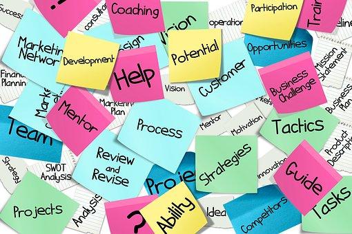 Bulletin Board, Stickies, Post-it, List, Business