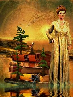 Princess, Owl, Fairy Tales, Lichtblick Mood, Nature