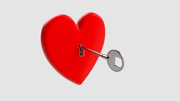 Key, Heart, Love, Symbol, Valentine, Romantic, Lock