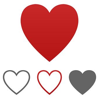 Heart, Icon, Vector, Logo, Symbol, Sign, Shape, Love