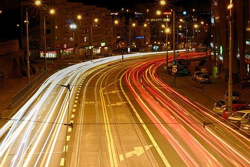 Traffic, Transport, Car, Street, Hurry Up, City, Lit