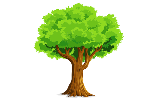 Tree, Green, Nature, Animation, Logo, Vintage, Icons