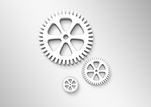 Gears, Workflow, Work, Logo, Concept, Expressionless