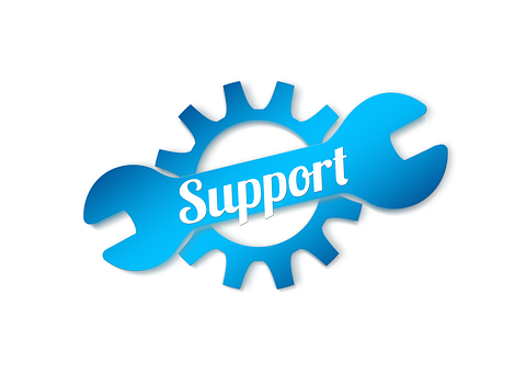 Support, Clock, Gear, Wrench, Help, Icon, Button, Logo