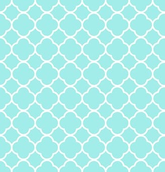 Quatrefoil, Pattern, Blue, White, Aqua, Design