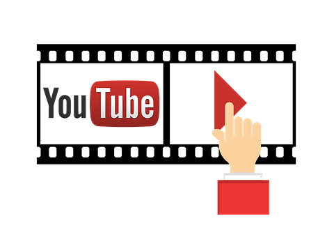 Hand, Touch, You, Tube, You Tube, Icon, Play Button